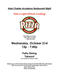 West Hills Pizza Restaurant Night